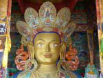 Buddhist statue at Thiksey Monastery © J Thomas