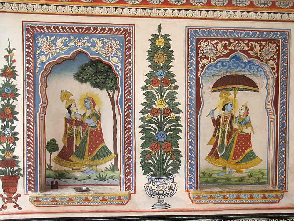 Fresco painting at a haveli in Mandawa © P Vashistha