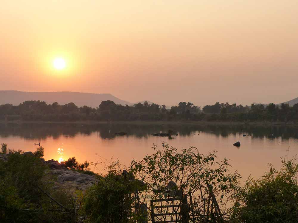 Sunset, Ken River, near Panna © K Claydon